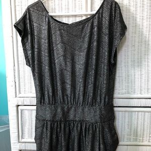 Black and silver sparkly thread dress